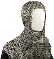 Souvenir India Chainmail Hood/Coif 10 mm Flat Riveted MS – Medieval Armor
