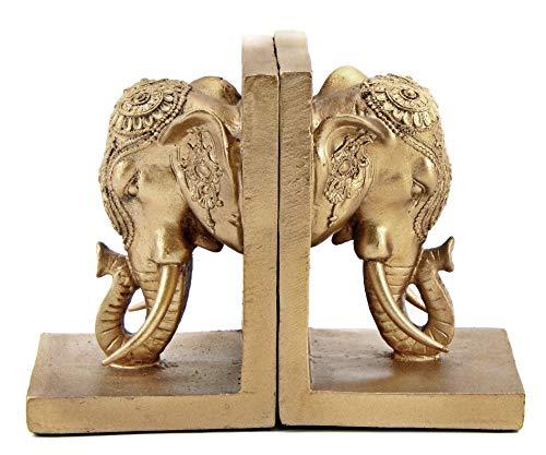 Bellaa 21817 Bookends Elephant Head Bookshelf Decor 7