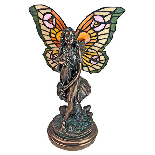 (Design Toscano Fairy of the Glen Tiffany-Style Stained Glass Illuminated)