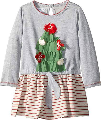 Mud Pie Baby Girl's Christmas Very Merry Dress (Infant/Toddler) Gray 12-18 Months
