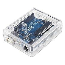 LeaningTech Case Enclosure New Transparent Clear Computer Box Compatible with Arduino UNO R3