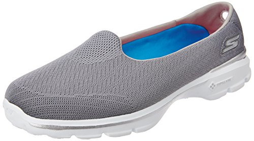 Skechers Performance Damen Go Walk 3 Einblick Slip-On Wanderschuhe Grau