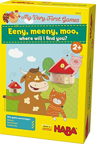 HABA My Very First Games - Eeny Meeny Moo - Two Amusing Memory Games for Ages 2 and Up (Made in Germany) Haba Memory Game