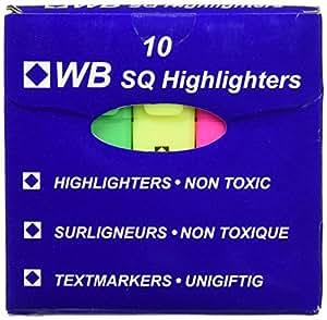 Whitebox Hola Glo Highlighter - Surtido de Colores (Pack de 10)