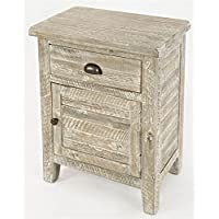 Accent Table in Washed Gray Finish