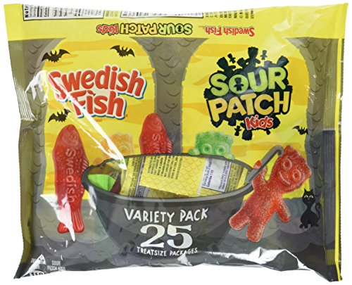 Sour Patch Kids and Swedish Fish Treat Size Variety Pack (Patch Kids Sour Wrapped Individually)