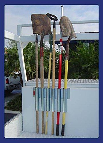 Heavy Duty Truck Bed & Tool Box Mount – Garden Tool Holding Rack for Rake, Shovel, Etc. – Landscaper, Gardener & Contractor – Commercial Grade Truck & Trailer Mounted Steel Tool Rack (Bed & Box Mount)