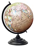 Big Decorative Rotating Globe Pink Ocean World Geography Earth Home Décor