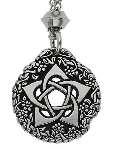 Tudor Rose Pentacle of the Goddess Pewter Pendant ~ Symbol of Protection (with 18 inch Chain)