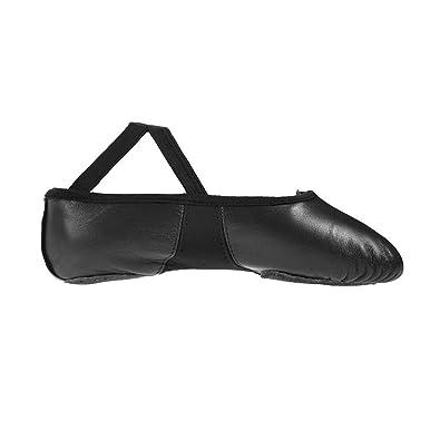 Starlite Flexi Fractionnés Noir Semelle Chaussures À Semelle De Ballet En Cuir 5l v79Ez3