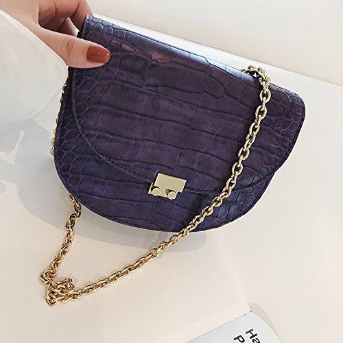Vintage Sacoche Cartable ZHANGJIA Besace Petit Violet d5pnnf