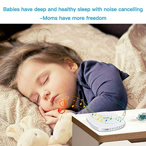 Yostyle White Noise Machine Sleep Sound Therapy Machine Spa Relaxation with 20 Soothing Sound Memory Function and Sleep Timer for Kids Adults with Natural Wind Ocean Sound Effects