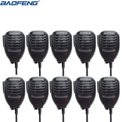 BAOFENG 10Pack 2 Pin Handheld Remote Radio Speaker Mic for Walkie Talkie UV-5R UV-5RE 3R+ BF-888S GT-3 Series