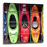 3dRose LLC Kayak Wall Clock, 10 by 10-Inch Review
