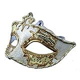 ZjpMask Exquisite Painted Music Antique Cracks Women/Men Venetian Masquerade Mask Ball (White)