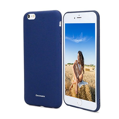 (Silicone Rubber iPhone 6/6S Case, Jeans Slim Fit Soft Skin Feeling Liquid Silicone Gel Rubber Drop Protection Cell Phone Cover TPU Shell Decovans DP28 Cases for Little Girls Women Men - Dark Blue)