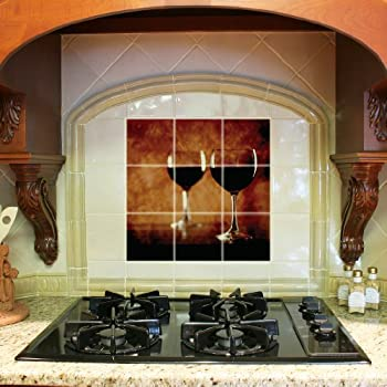 Amazon Com Kitchen Backsplash Ceramic Tile Pizza Chef
