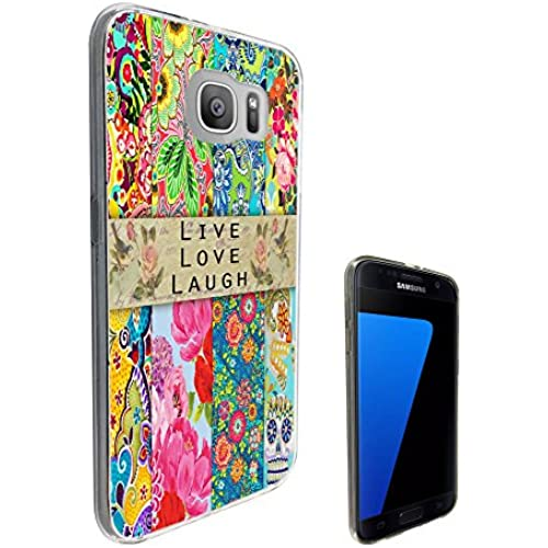 584 - Sugar Skull Shabby Chic Vintage Live Love Laugh Floral Roses Fleurs Design Samsung Galaxy S7 Edge G935 Fashion Trend CASE Gel Rubber Silicone Sales