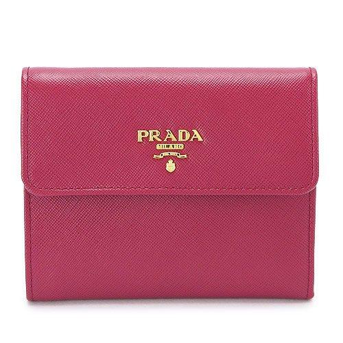 プラダ レザー 財布3つ折(ホック式小銭入れ付き) M170A