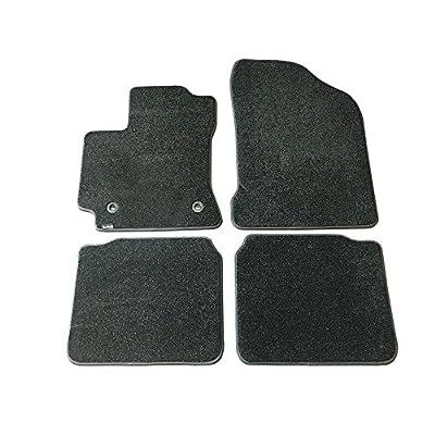 CarsCover Custom Fit 2014-2020 Toyota Corolla Front and Rear Carpet Car Floor Mats Heavy Cushion Ultramax Asphalt Black: Automotive