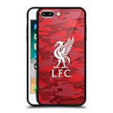 Official Liverpool Football Club Home Colourways Liver Bird Camou Black Hybrid Glass Back Case for iPhone 7 Plus/iPhone 8 Plus