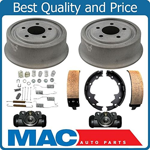 (New Rear Drums Brake Shoes Spring Kit Wheel Cylinders for Jeep Wrangler 01-06)