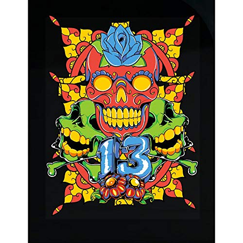 Peyton Winks Dia de Los Muertos - Sugar Skull 13 - Transparent Sticker -