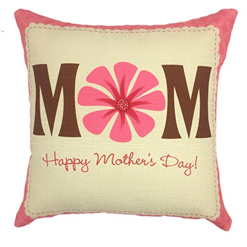 YOUR SMILE Mother's day Cotton Linen Square Decorative Throw Pillow Case Cushion Cover 18x18 Inch(45CM45CM) (Mom 2)