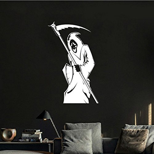 (OTTATAT Wall Stickers For Living Room 2019,Halloween Skeleton Background Decorated Living Room Bedroom s Easy to peel Honeymoon Gifts Children room Gift for children Free post Under 5)