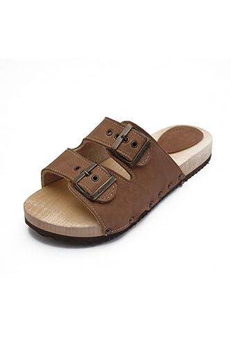 scarpe da ginnastica a buon mercato 12215 51f33 ROBERTO - Zoccolo da uomo con doppia fibbia: Amazon.it: Handmade