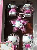 Hello Kitty 5pk 1-in Holiday Ornament