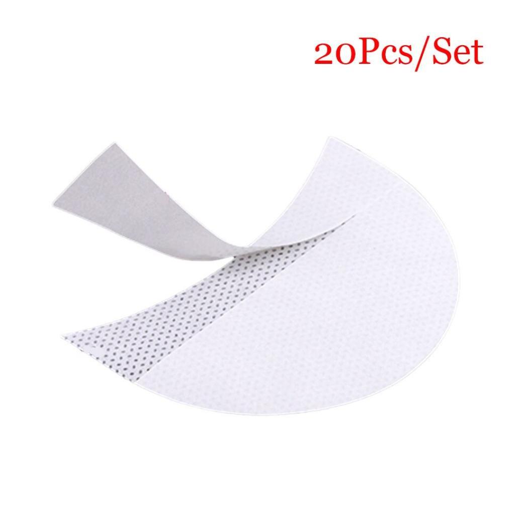 FTXJ Eyeshadow Shields Pad for Lash Enhancers & Primers Professional Lint Free Under Eye Eyeshadow Gel Pad Patches For Eyelash Extensions/Lip Lashes Mat (White 20pcs)
