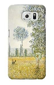 E2682 Claude Monet Fields In Spring Funda Carcasa Case para Samsung Galaxy S6 Edge Plus