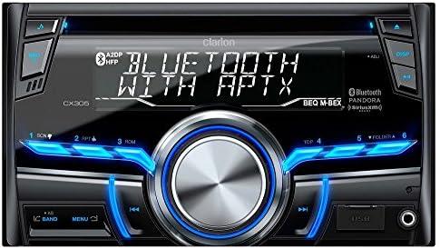 گیرنده Clarion CX305 2-Din بلوتوث / CD / USB / MP3 / WMA گیرنده 13 قسمتی ، کنترل از راه دور بی سیم صفحه نمایش 10 رقمی X 2-خط