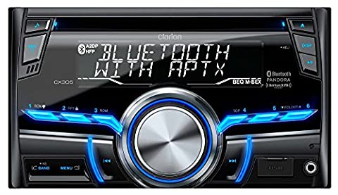 Clarion CX305 2-Din Bluetooth/CD/USB/MP3/WMA Receiver 13-Segment, 10-Digits X 2-Line Display Wireless Remote (Clarion Android)