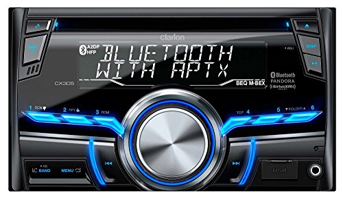 Clarion CX305 2-Din Bluetooth/CD/USB/MP3/WMA Receiver 13-Segment, 10-Digits X 2-Line Display Wireless Remote Control Clarion Car Stereo