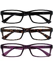 The Reading Glasses Company The Reading Glasses Company Black Brown Purple Readers Value 3 Pack Mens Womens Uvr uniseks-volwassene Leesbril Gemengd 3 Pack