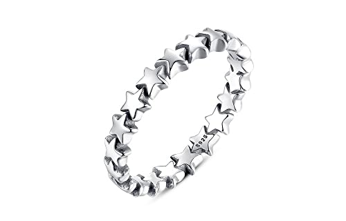 Dixey Luxury Anillos de Plata Star Studded Finger Ring for Women (6) RI0019