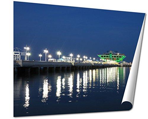 Ashley Giclee Fine Art Print, Pier In St Petersburg At Night Florida, 16x20, - Fl Mall Petersburg In St