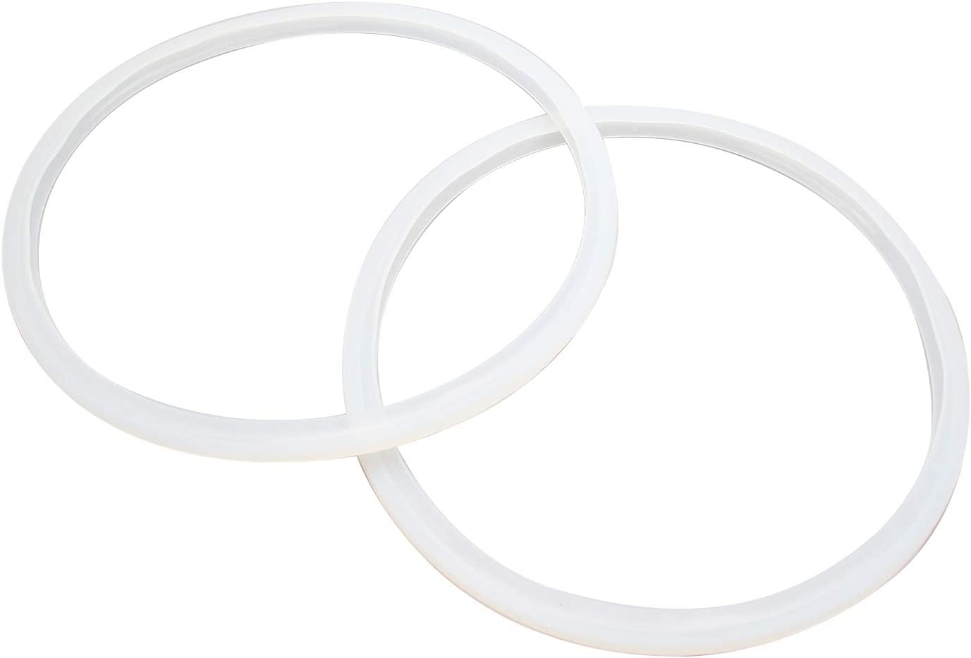 Semetall Pressure Cooker Gasket 2 Pack 7.78 Inch Universal Pressure Cooker Sealing Ring,Pressure Cooker Replacement Gasket (Transparent)