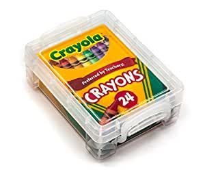 Amazon Com Crayola Crayons 24 Count With Clear Super