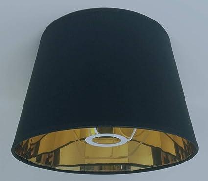 Paralume Per Lampada Da Tavolo Diametro 25 Cm In Stile Impero Colore Nero Bianco Con Fodera Dorata Fatto A Mano Moderno Nero Amazon It Casa E Cucina