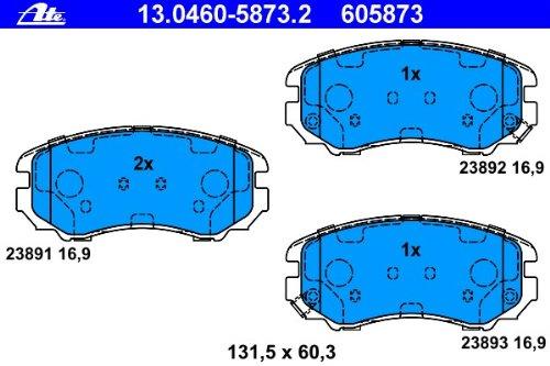 Scheibenbremse ATE 13.0460-5873.2 Bremsbelagsatz