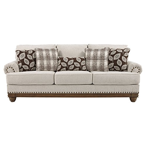 Ashley Furniture Signature Design - Harleson Traditional Upholstered Sofa - Wheat