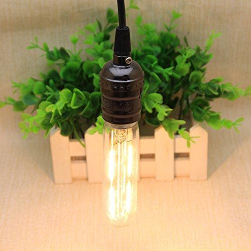 Kiven Vintage LED Light Bulb Filament Bulb T10 Edison Light Bulb 4W Warm White Tubular Bulb 2700K (4 Pack)