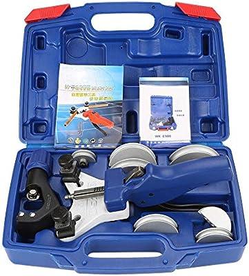 TOPQSC Juego de herramientas manuales para doblar tubos, dobladora de tubos de cobre con caja de transporte, para herramientas de refrigeración de 1/4, 5/16, 3/8, 1/2 pulgadas, 5,6,8,10,12 mm: Amazon.es: Bricolaje y herramientas