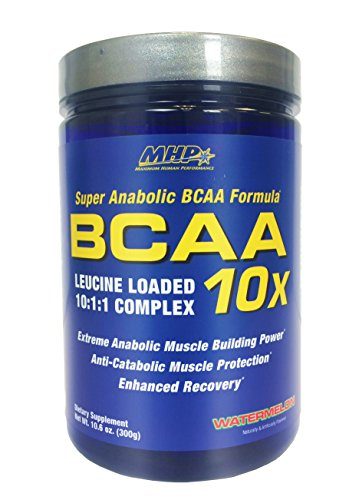MHP BCAA 10x Leucine Loaded 10:1:1 Complex, Watermelon, 10.6 Ounce