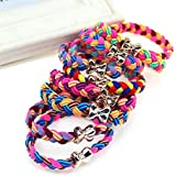Hot Sale 10Pcs/Lot Women Ultra Elastic Braided Rope Rubber Bow Headband Hairband LOVE STORY