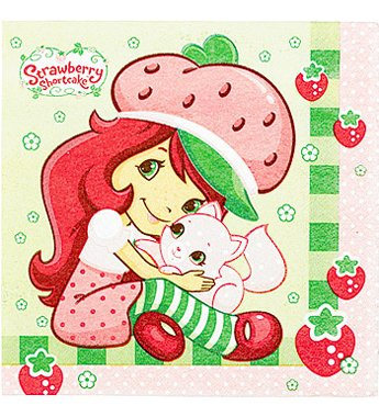 Strawberry Shortcake Lunch Napkins (Strawberry Shortcake Lunch Napkins - 16 Counts)