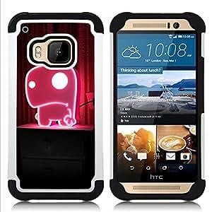 - Funny Cute Pink Monster/ H??brido 3in1 Deluxe Impreso duro Soft Alto Impacto caja de la armadura Defender - SHIMIN CAO - For HTC ONE M9